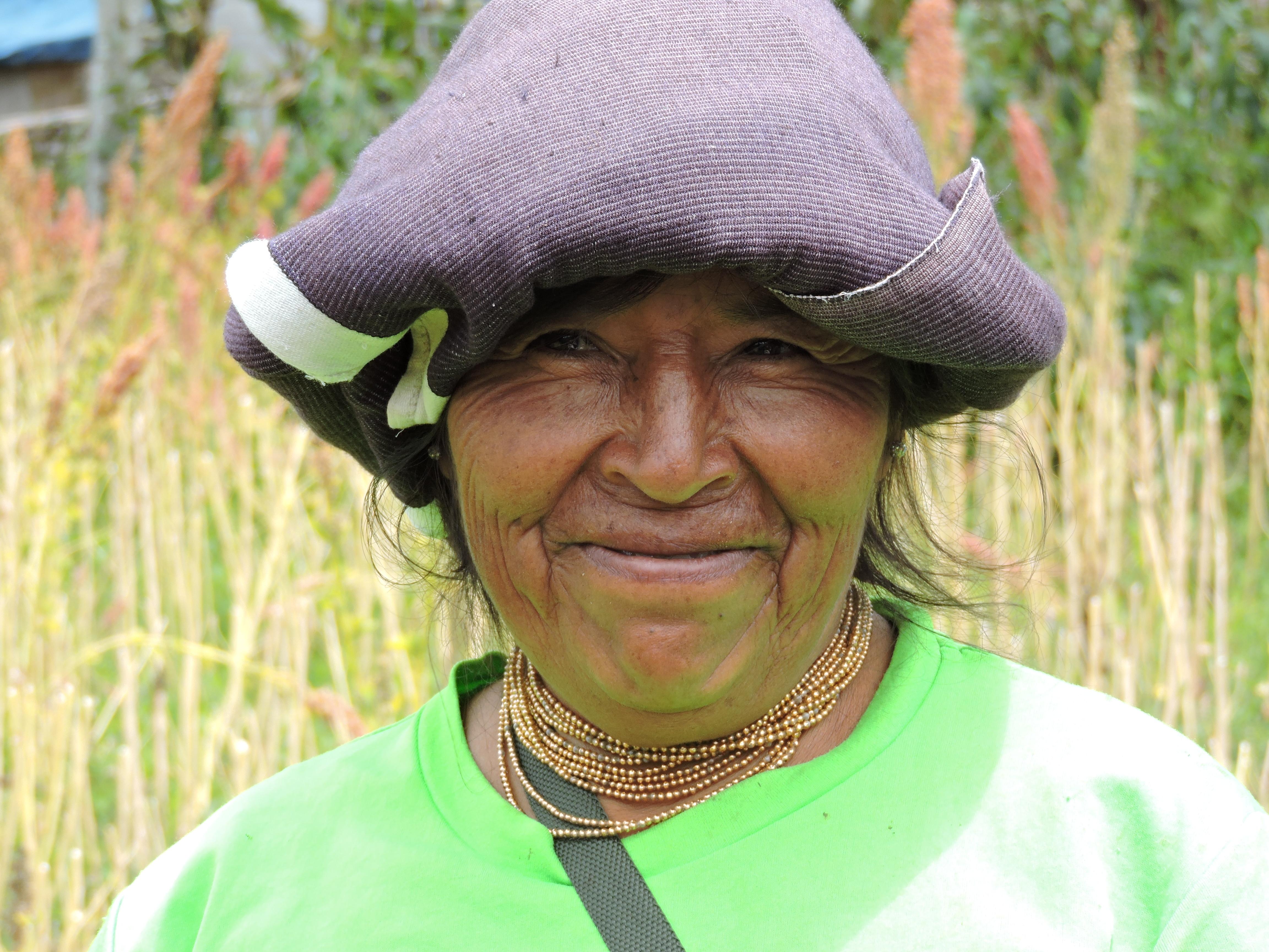 Sra. de la comunidad Morocho, Asociación Mama MuruKuna