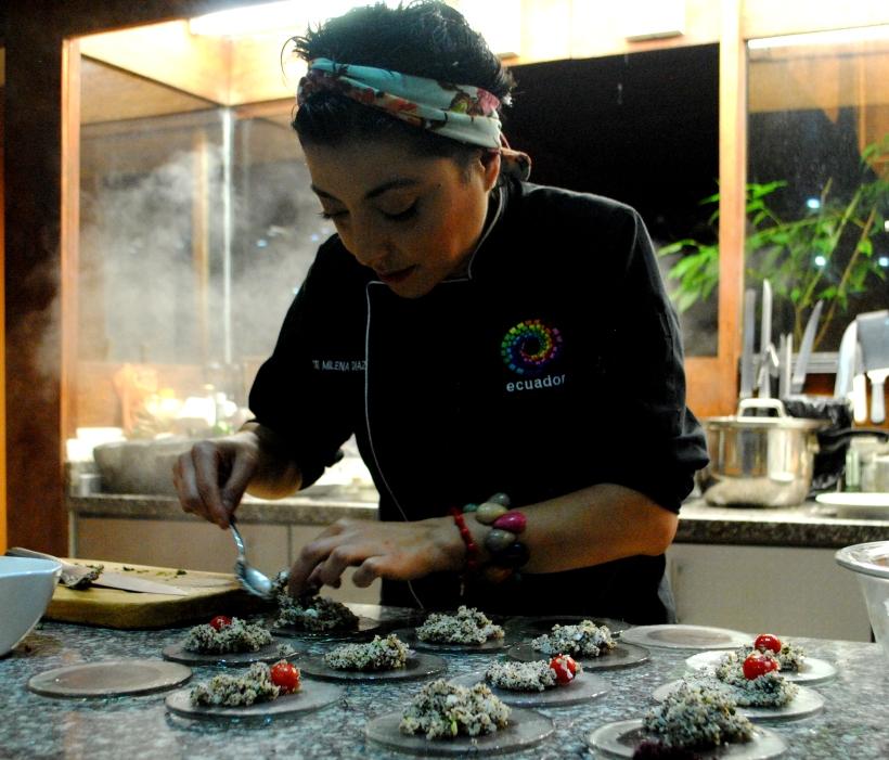 Milena Díaz, recetas con Amati, bebida de Amaranto